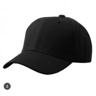 Baseball Cap Plain Black