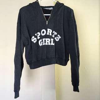 SportsGirl Cropped Hoodie