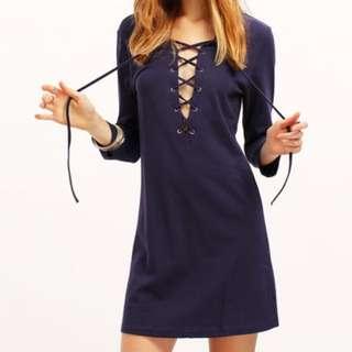 Lace Up Dress | Size XS