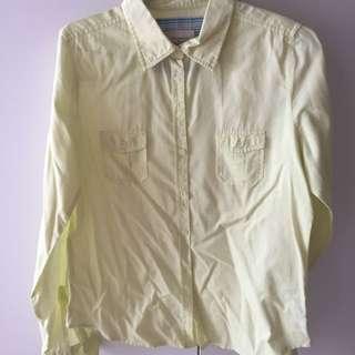 F21 Light Yellow Shirt