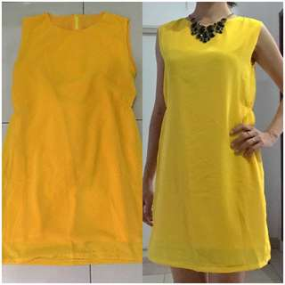 Mini Dress Yellow Polkadot