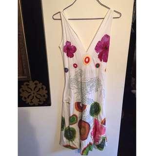 Desigual Renny White Dress size Small