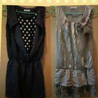 Anneke 雪紡短洋裝兩件合售size:F