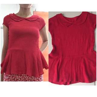 Peplum Red