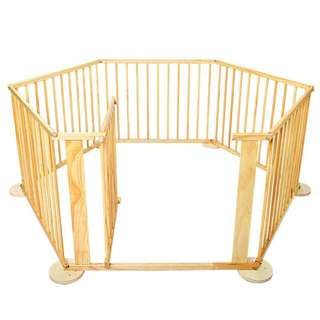 Baby Natural Wooden Playpen