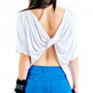 Oversized Twisted Back Tshirt S (8), M (10), L (12)
