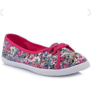New - Pink Flower Shoes