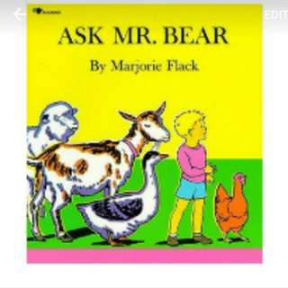 Ask Mr Bear