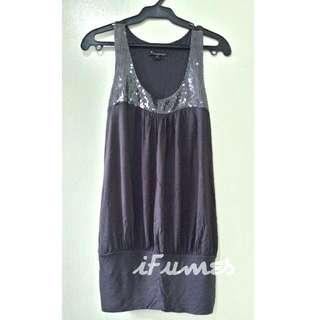 Gray Mini Dress Medium