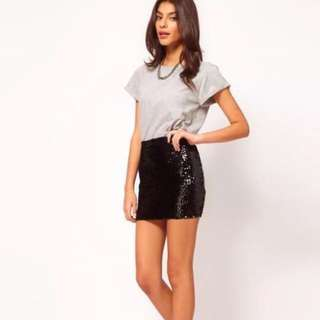 ASOS black party sequin skirt- Brand new!
