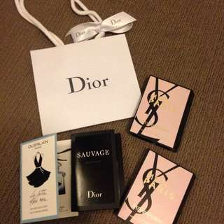 Set Of 4 Designer Perfume Sample ( Dior, YSL, Guerlain)