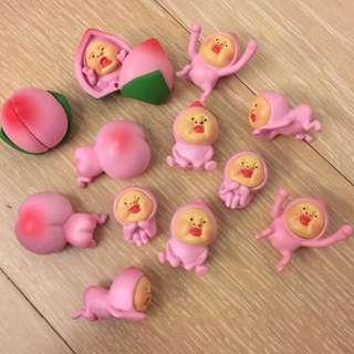 屁桃 公仔 玩具 擺飾 粉紅