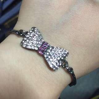 🚚 蝴蝶結 滿鑽手環