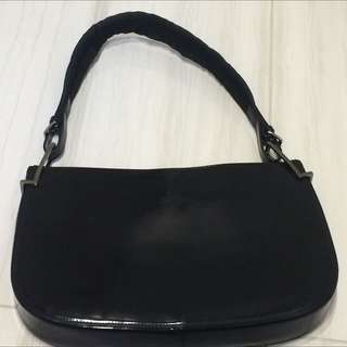 Black Gucci Patent Leather Bag
