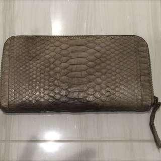 Grey Snake Skin Wallet