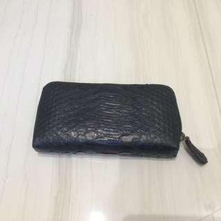 Black Snake Skin Wallet