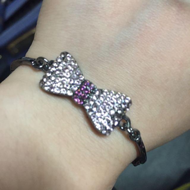 蝴蝶結 滿鑽手環