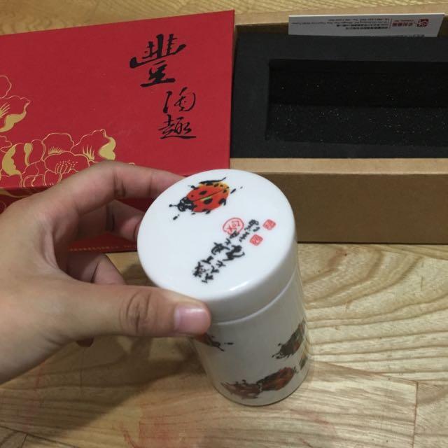 采泥藝術 陶瓷器 茶葉罐之類 收藏品