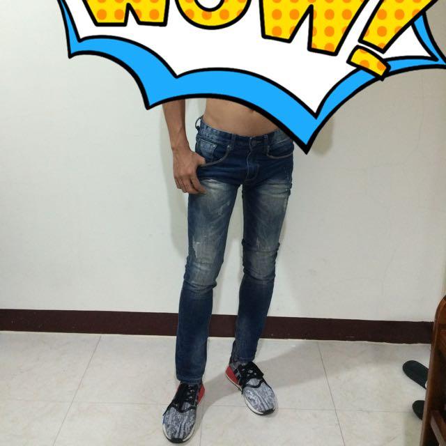 $全新含運$ 男生 韓版 緊身 牛仔褲 單寧
