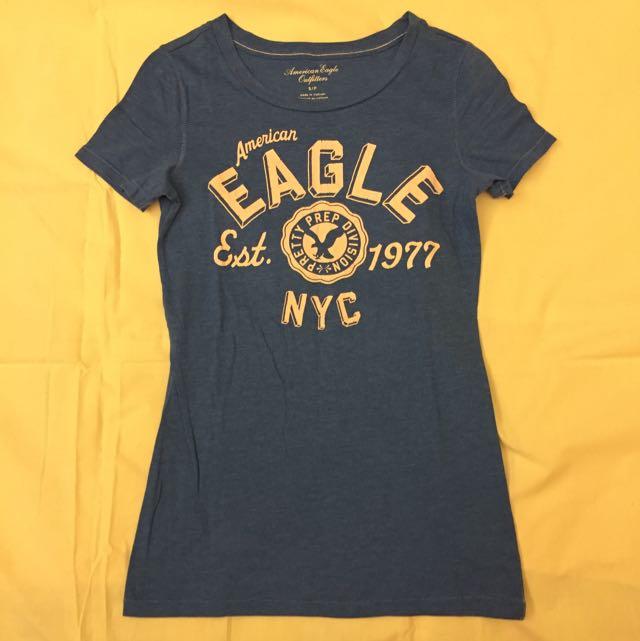 AE藍色T-shirt
