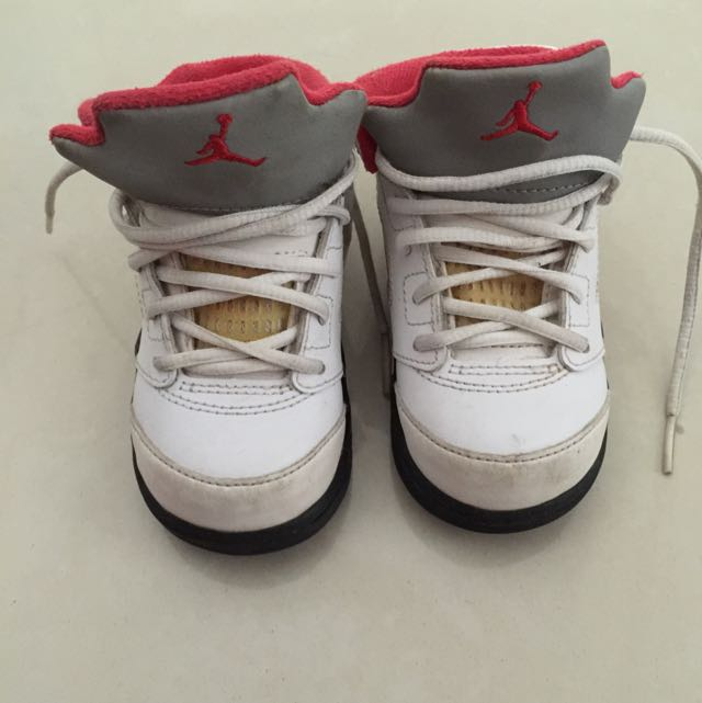 super popular c03dc 58d1f Air Jordan Retro 5 Fire Red Toddler Size Us 6c, Babies ...