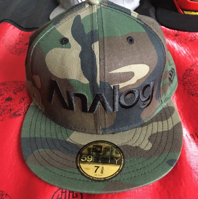 Analog New Era Camo Fitted Cap Size 7 3/8