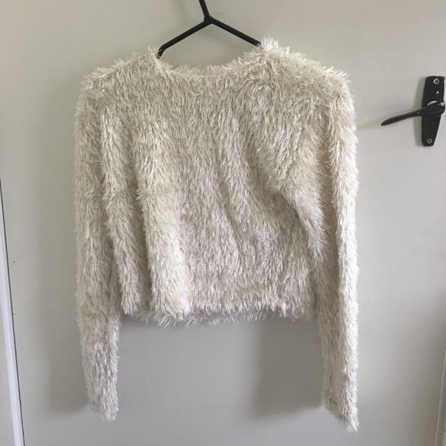 ASOS cropped fluffy jumper