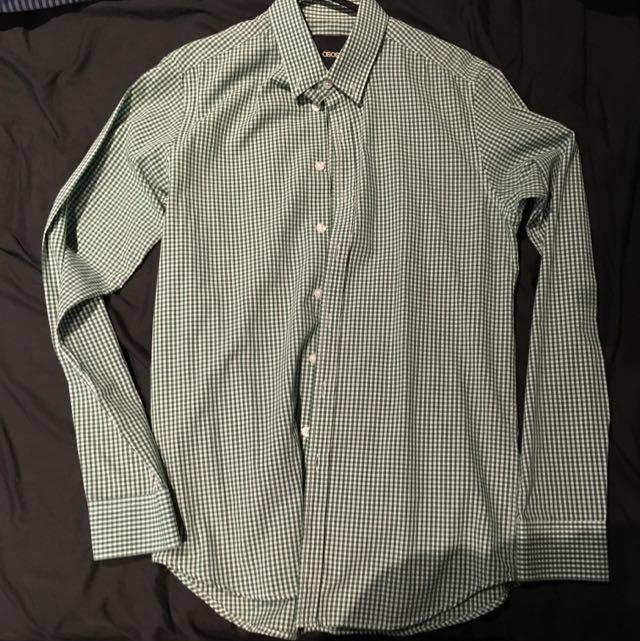 ASOS Green Checkered Shirt