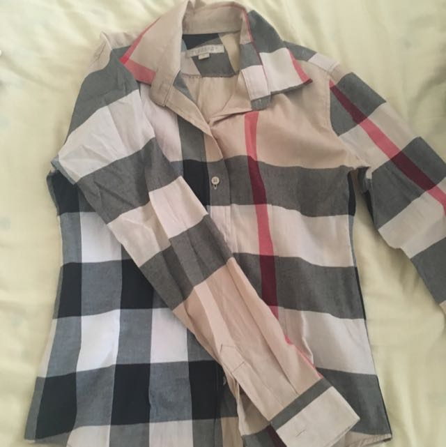 Authentic Burberry Plaid Shirt
