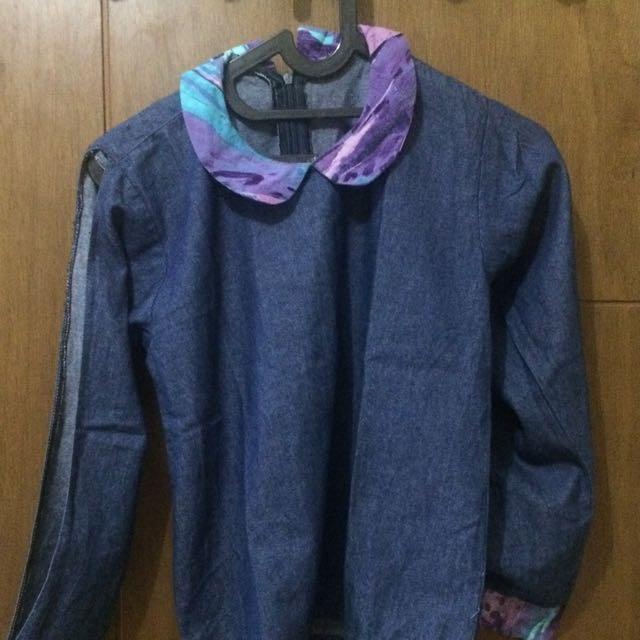 Baju Jeans Berkerah