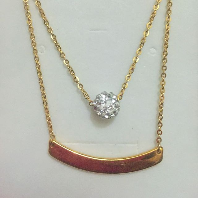 Bar And Ball Necklace