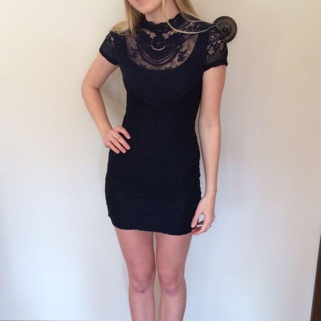 Beautiful Navy Lace Dress
