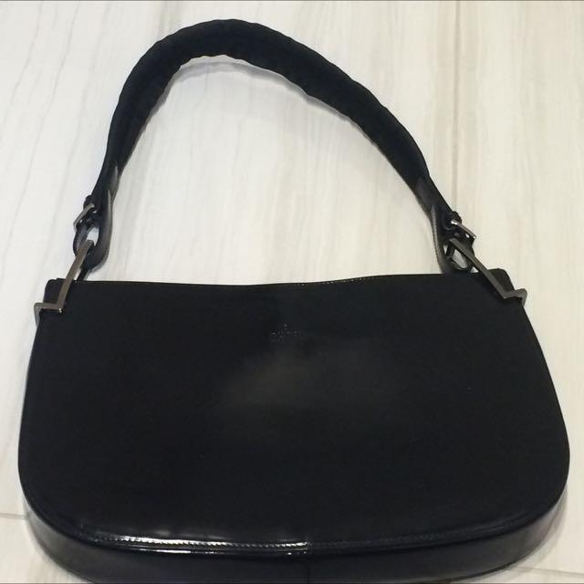 Black Gucci Patent Leather Bag