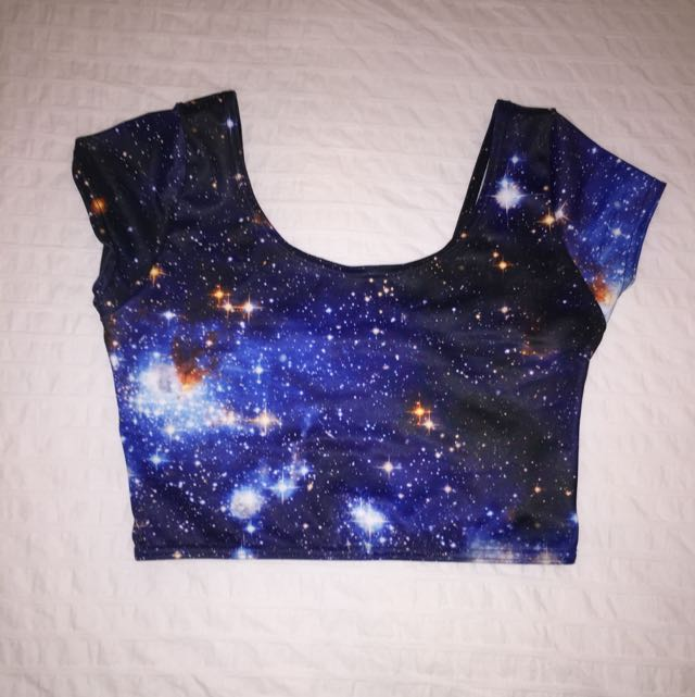 ** RESERVED ** Blackmilk Galaxy Blue Nana Suit Top