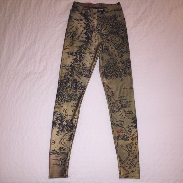 Blackmilk Map Of Middle Earth Leggings