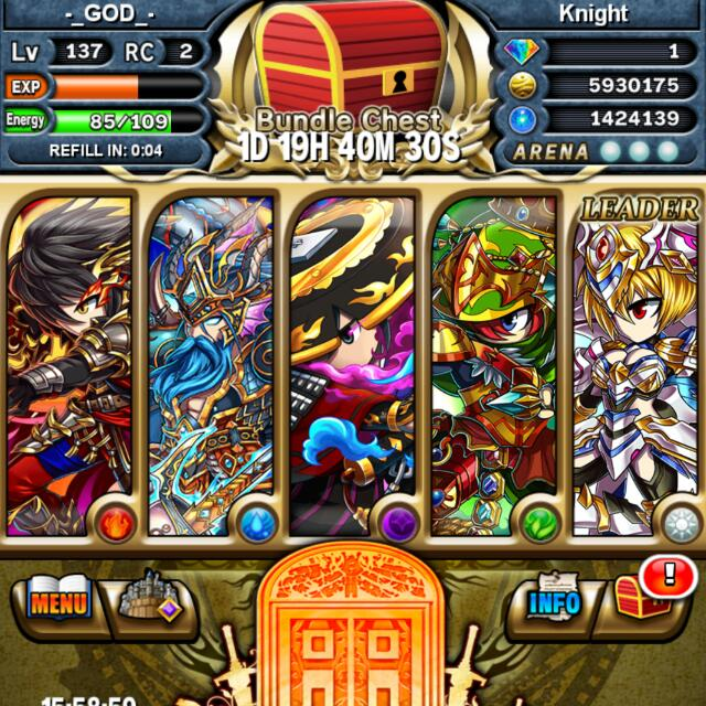 Brave Frontier Account, Toys & Games, Video Gaming, Video