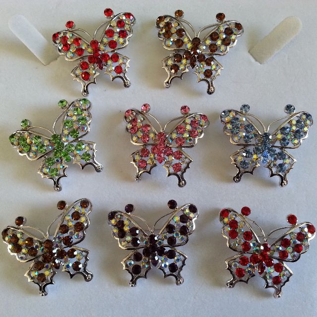 Butterfly brooches, variety of colours to choose from~