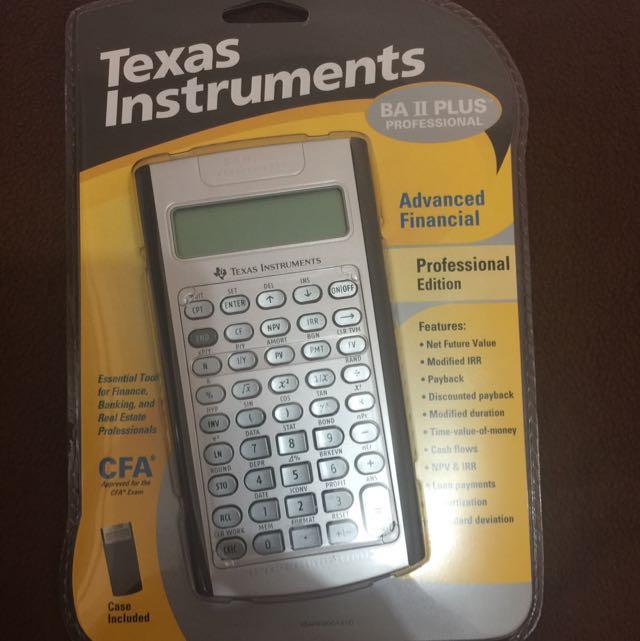 Calculator Texas Instruments BA II Plus Professional