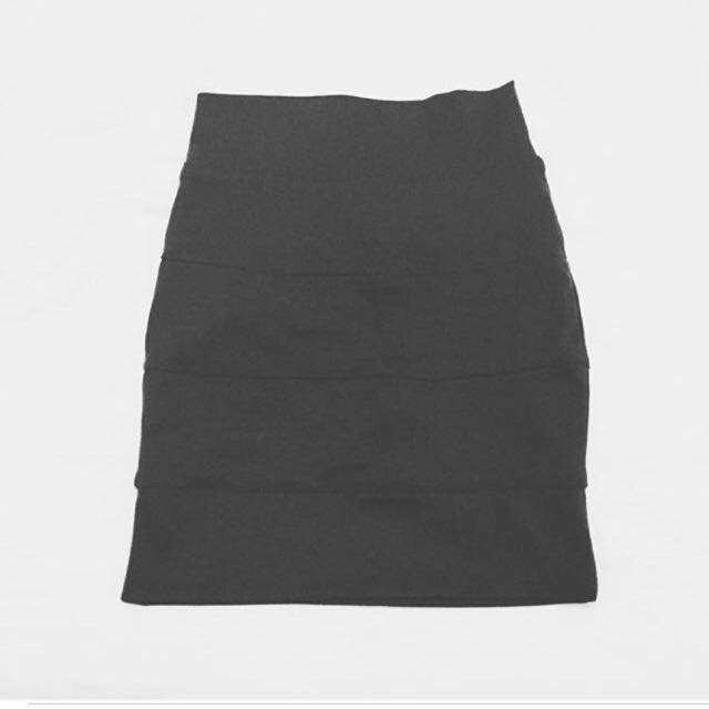 Charcoal Body-con Skirt