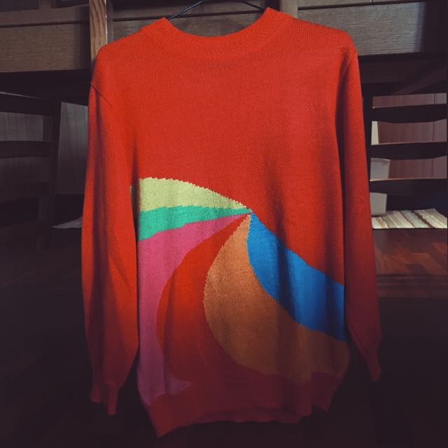 Colour-Burst Red Jumper