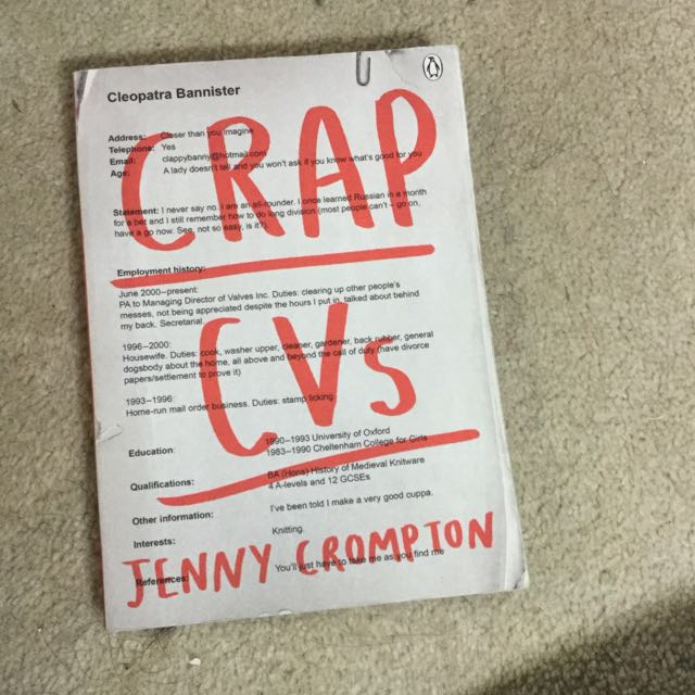 Crap Cvs novel