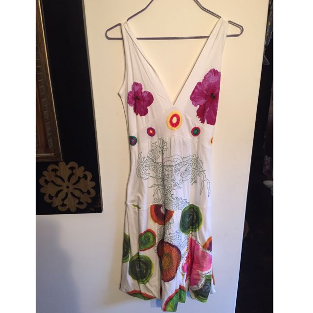 Desigual Renny White Dress size Small