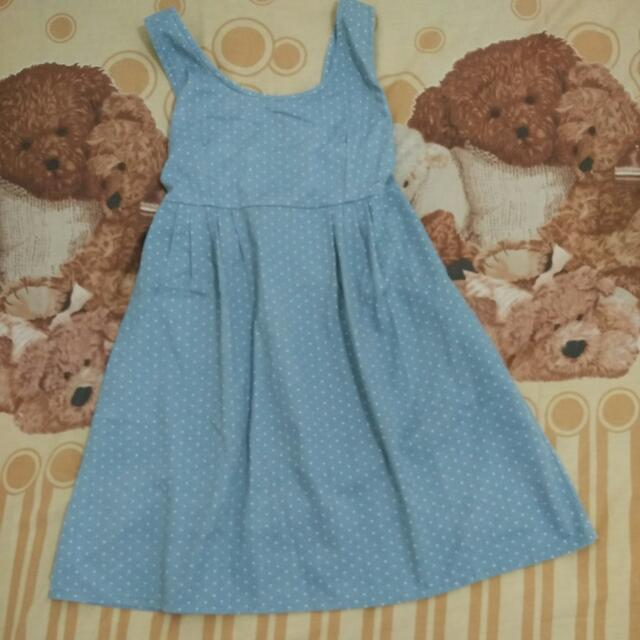 Dress Polkadot Denim