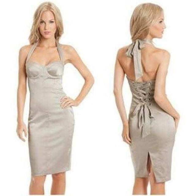 Guess by Marciano - Susanna Champagne Corset Dress - XS - By Guess by Marciano