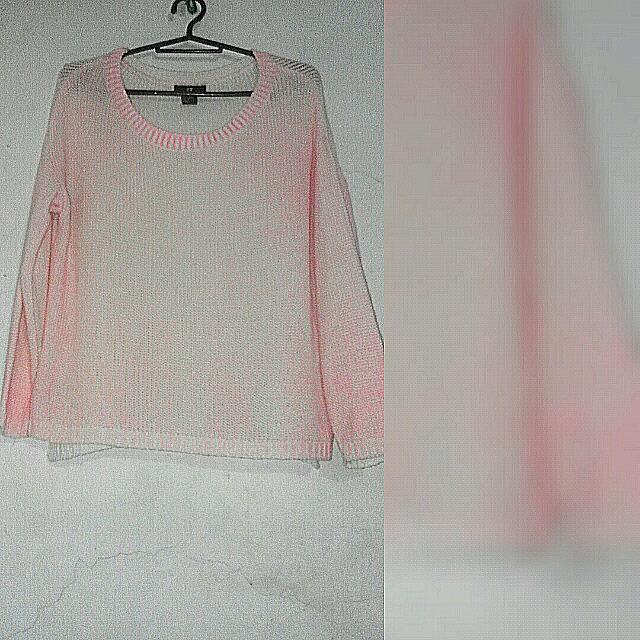 H&M Knitted Pink Long Sleeves