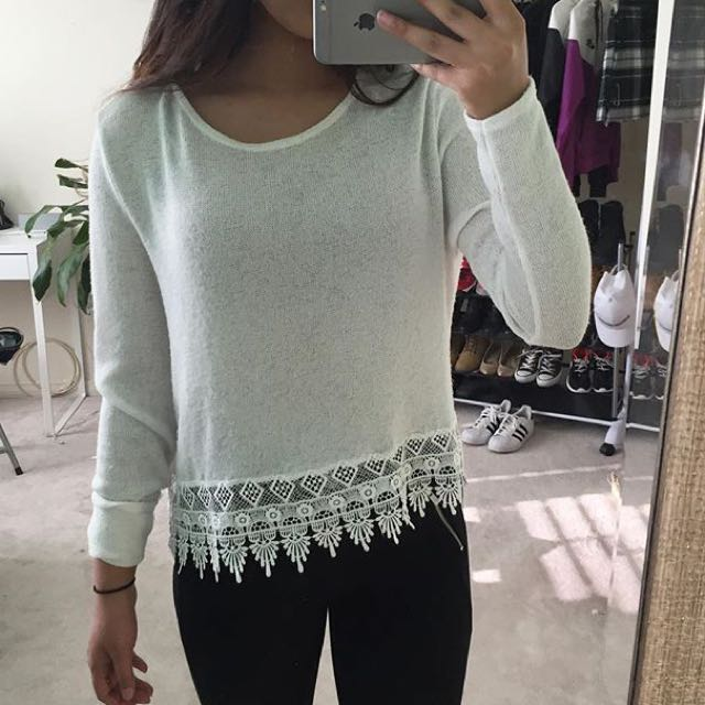 H&M Laced Trim Sweater
