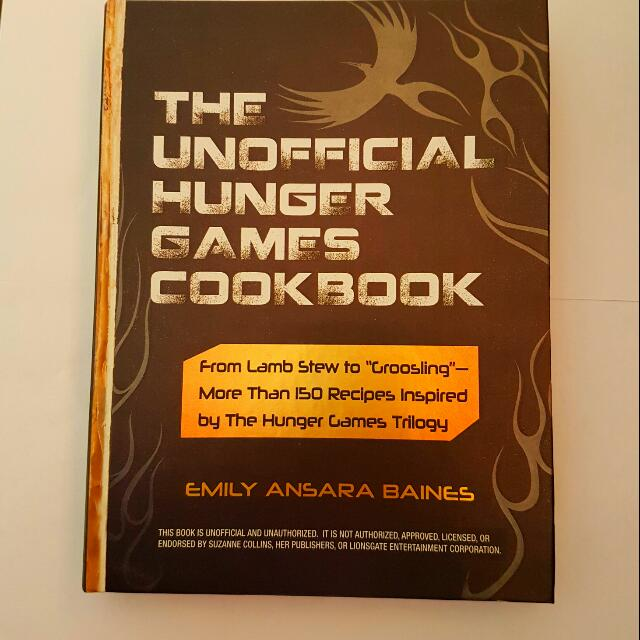 Hunger Games Themed Cookbook
