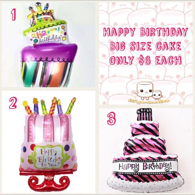 Instock Big Size Of Happy Birthday Cake Balloon Toys Games On