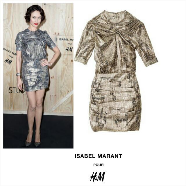 65c8c62182 SOLD! - Isabel Marant X H M Metallic Gold Silk Dress