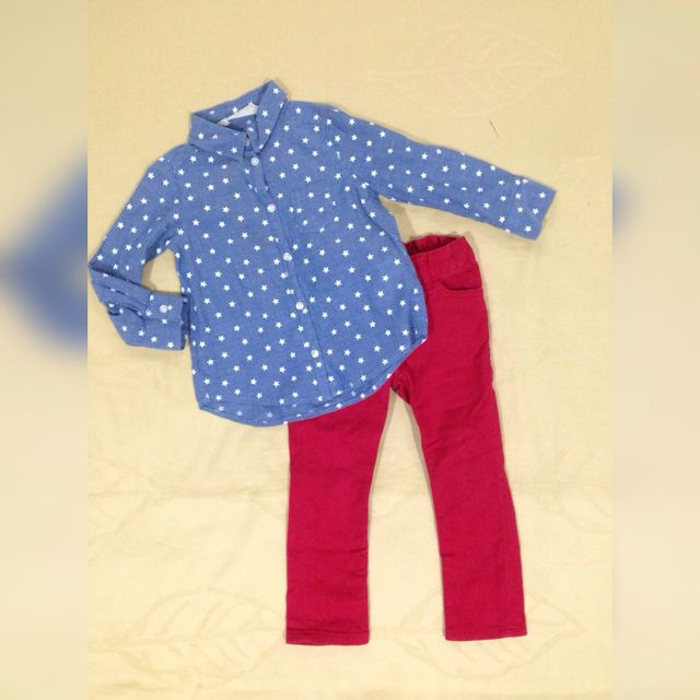Jeans Star Shirt & Red Jeans